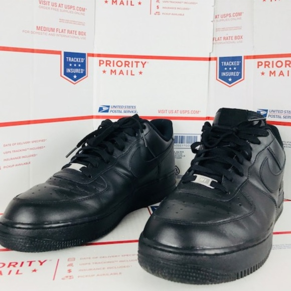 huge selection of bf0c3 ee3b0 Mens Nike Air Force 1All Black 315122-001 Sz 12.5.  M 5afb99523b1608ced43dc4b2